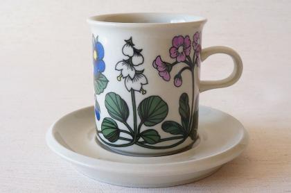 ARABIA アラビア Flora フローラ コーヒーカップ&ソーサー【113423682】
