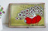(希少)北欧フィンランド ARABIA ヘルヤ 陶板画(ウォールプレート)Paasiaisajelulla