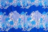 北欧スウェーデンで見つけたヴィンテージファブリックの布団カバー(ブルー・花柄)