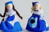 マグネットドール『マリメッコ ウニッコ』ブルー