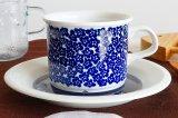 ARABIA アラビア faenza ファエンツァ コーヒーカップ&ソーサー(ブルー)