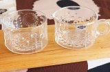(箱付き 未使用品)NUUTAJARVI(ヌータヤルヴィ)flora(フローラ)クリーマー&シュガーボウル セット (クリア)