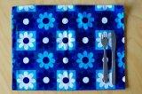北欧フィンランドでみつけたレトロデザイのファブリック ランチョンマット(ブルー・花)