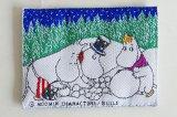 ムーミンのヴィンテージ 布製タグ・ワッペン BULLS(ムーミンパパたちと雪だるま)