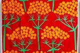 北欧フィンランドで見つけた ヴィンテージファブリック FINLAYSON(フィンレイソン)赤×植物柄