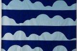 タンペラ ヴィンテージファブリック Space I 水色×ブルー 144×194