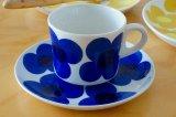 ARABIA アラビア aurinko アウリンコ コーヒーカップ&ソーサー ブルー【136253983】