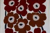 marimekko(マリメッコ)生地・ヴィンテージファブリック UNIKKO(ウニッコ)ブラウン 128×156
