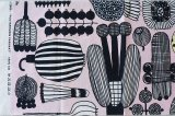 マリメッコ ファブリック PUUTARHURIN PARHAAT(プータルフリン パルハート)ピンク 140×32