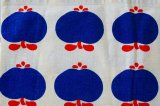 北欧 ファブリック ブルー×りんご (フィンランド)90×27