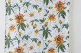 北欧ヴィンテージファブリック スウェーデン 白地×葉花柄 124×240cm