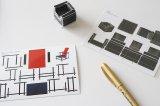 紙模型ポストカード(リートフェルト 名作椅子 赤と青の椅子)ドイツ