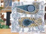 GUSTAVSBERG グスタフスベリ Lisa Larson リサ・ラーソン 陶板 UNIK ユニック 二羽の鳥 FAGLAR