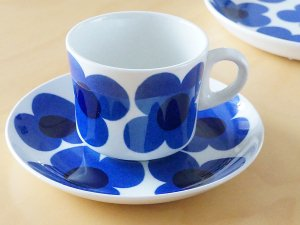 ARABIA アラビア aurinko アウリンコ コーヒーカップ&ソーサー ブルー