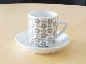 ARABIA アラビア Rypale リュパレ コーヒーカップ&ソーサー(グレー)