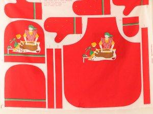 Tampella(タンペラ)ヴィンテージファブリック(ジンジャーブレッド)のハギレ 130×100cm