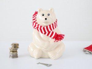 しろくま貯金箱 Polar Bear Money Box(MK-Tresmer)【マフラー付き2019】