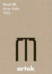 artekポスター アイコンstool60 アルヴァ・アアルト(新品)