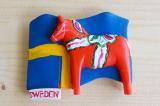 ダーラナホースマグネット(スウェーデン国旗)