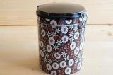 北欧 デンマーク  ira社製 ブリキ缶コーヒーキャニスター(ブラックxデイジー)