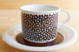 ARABIA アラビア faenza ファエンツァ コーヒーカップ&ソーサー(ブラウン)