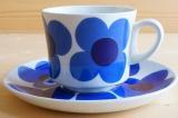 ARABIA アラビア aurinko アウリンコ コーヒーカップ&ソーサー(ブルー)【89615347】