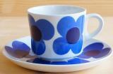 ARABIA アラビア aurinko アウリンコ コーヒーカップ&ソーサー(ブルー)【89921409】