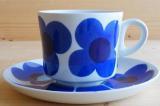 ARABIA アラビア aurinko アウリンコ コーヒーカップ&ソーサー(ブルー)【89921612】