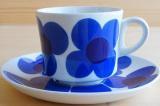 ARABIA アラビア aurinko アウリンコ コーヒーカップ&ソーサー(ブルー)【89921670】