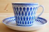 GEFLE(ゲフレ)LILEMOR(リッレモー)コーヒーカップ&ソーサー(ブルー)