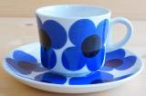 ARABIA アラビア aurinko アウリンコ コーヒーカップ&ソーサー ブルー【91916778】