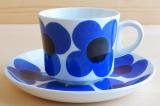 ARABIA アラビア aurinko アウリンコ コーヒーカップ&ソーサー ブルー【91916832】