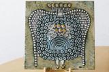 リサ・ラーソン Lisa Larson 陶板画 UNIK  婦人 DAM