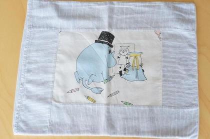 ムーミンヴィンテージファブリック 枕カバー(ピローケース)ハンドメイド