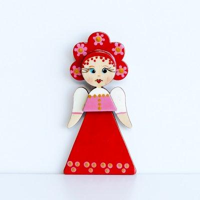 マグネット / 民族衣装 / 赤いサラファン