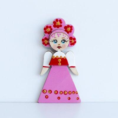 マグネット / 民族衣装 / ピンクのサラファン