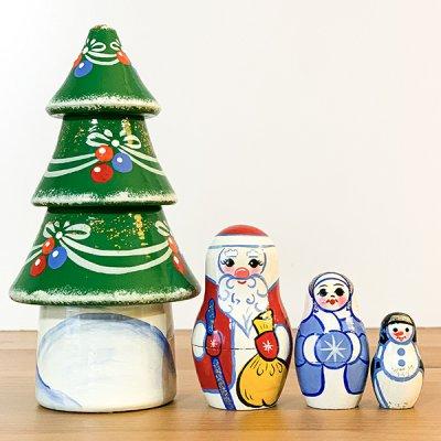 クリマスツリーマトリョーシカ / 4pieces