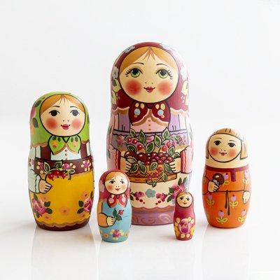 マトリョーシカ / お茶の時間  / 7pieces / ナデェージダ・イヴァンツォーヴァ作