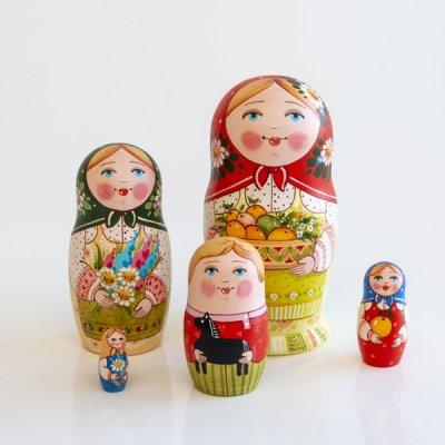 マトリョーシカ / りんご  / 5pieces / エレーナ・イヴァンツォーヴァ作
