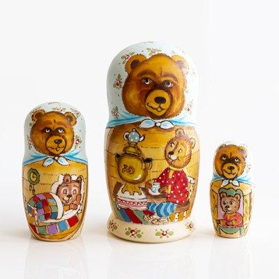 マトリョーシカ / クマの家族 / 3pieces / エレーナ・イヴァンツォーヴァ作