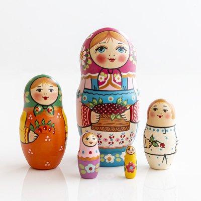 マトリョーシカ / ベリー / 5pieces / ナデェージダ・イヴァンツォーヴァ作