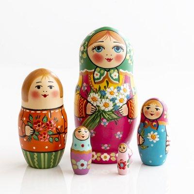 マトリョーシカ / マーガレット /  5pieces / ナデェージダ・イヴァンツォーヴァ作