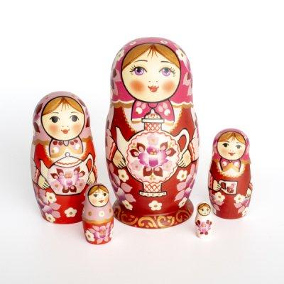 マトリョーシカ / きのことベリー - 2 / 7pieces / ナデェージダ・イヴァンツォーヴァ作