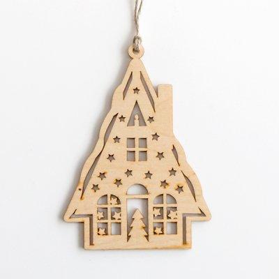 リトアニア / 木製クリスマスオーナメント / 家