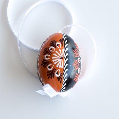 チェコ / 復活祭のたまご ピサンキ / ツートーン オレンジ