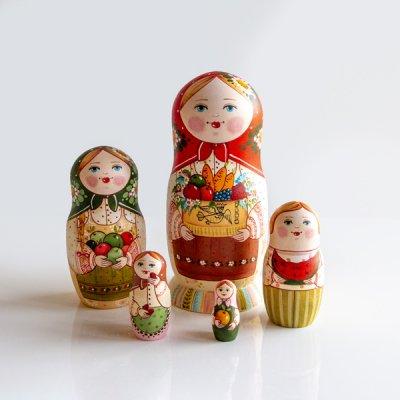マトリョーシカ / 収穫 / 5pieces / エレーナ・イヴァンツォーヴァ作