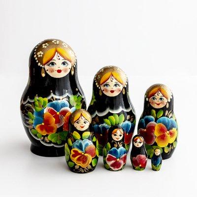 マトリョーシカ / 7pieces / ヴャーツカヤマトリョーシカ伝統柄