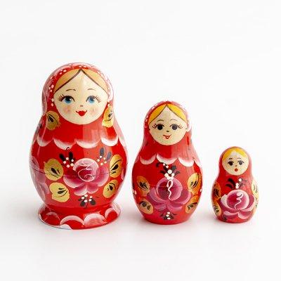 マトリョーシカ / 3pieces / ヴャーツカヤマトリョーシカ伝統柄