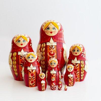 マトリョーシカ / 10pieces / ヴャーツカヤマトリョーシカ伝統柄