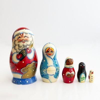 マトリョーシカ / 5pieces / ヴャーツカヤマトリョーシカ / サンタクロース